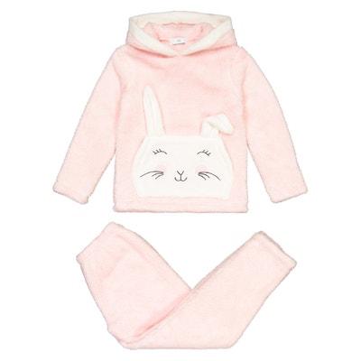 Pyjama met kap in fleece 3-12 jaar Pyjama met kap in fleece 3-12 jaar LA REDOUTE COLLECTIONS