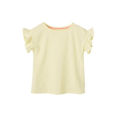f3279ebdba138 T-shirt fille manches courtes à volants T-shirt fille manches courtes à  volants
