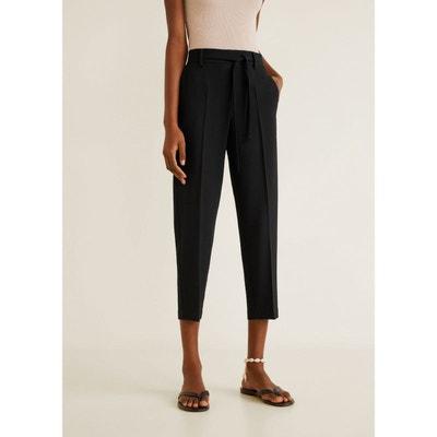 Pantalon droit noeud Pantalon droit noeud MANGO 6038ce8bfca