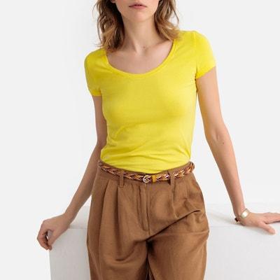 77f84c7b77e3 Tee shirt jaune femme