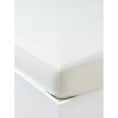 CYRILLUS Housse de Couette en Gaze de Coton Gaufr/ée 200X200 Blanc cass/é