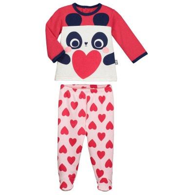 8f648db5204e9 Pyjama bébé 2 pièces molleton avec pieds Minilove Pyjama bébé 2 pièces  molleton avec pieds Minilove