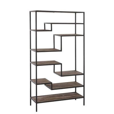 Etagere 6 planches metal bois marron  Etagere 6 planches metal bois marron  9495d31013ee