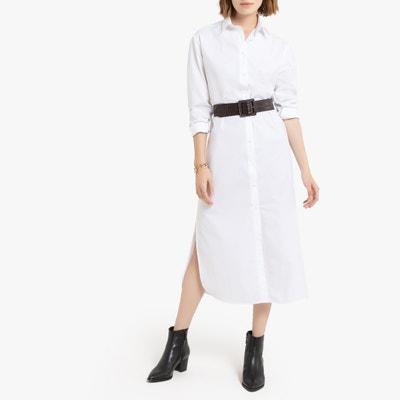 Cotton Midi Shirt Dress with Long Sleeves Cotton Midi Shirt Dress with Long Sleeves LA REDOUTE COLLECTIONS