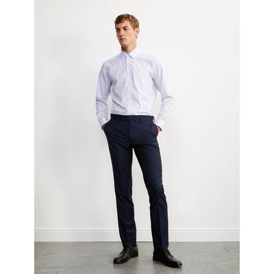Pantalon uni ajusté homme en laine Super 110 s CYRILLUS d3d7539da51
