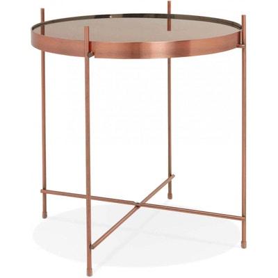 bbd84cc3ddf230 Table basse design Verre Cuivre ESPEJO MINI Table basse design Verre Cuivre  ESPEJO MINI KOKOON DESIGN
