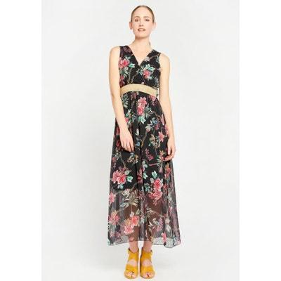 6f41b830f5d Robe longue fleurie manche longue