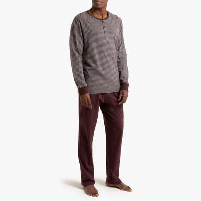 Pyjama met lange mouwen en tuniekhals Pyjama met lange mouwen en tuniekhals LA REDOUTE COLLECTIONS