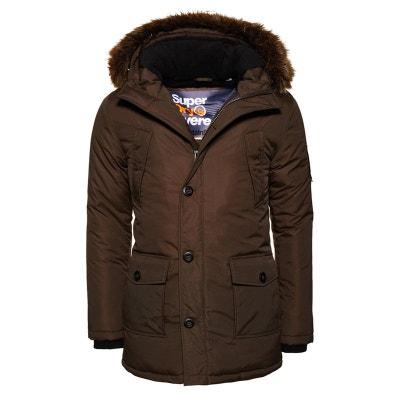 2b4708c920 Manteau bordé de fausse fourrure Everest SUPERDRY