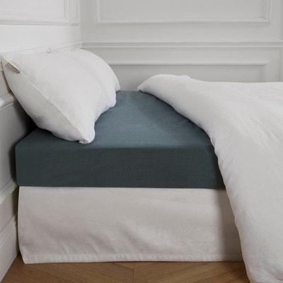 drap housse lin 140x200 la redoute. Black Bedroom Furniture Sets. Home Design Ideas