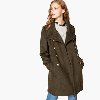 00b697385cd95e Manteau long mélange laine, style militaire Manteau long mélange laine,  style militaire LA REDOUTE