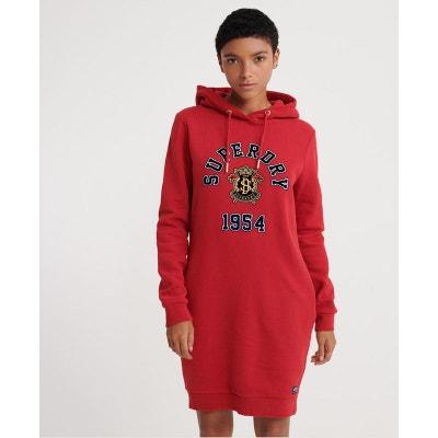 Robe sweat rouge | La Redoute
