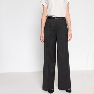 1f90cd04d86332 Pantalon large, 98% laine Pantalon large, 98% laine ANNE WEYBURN