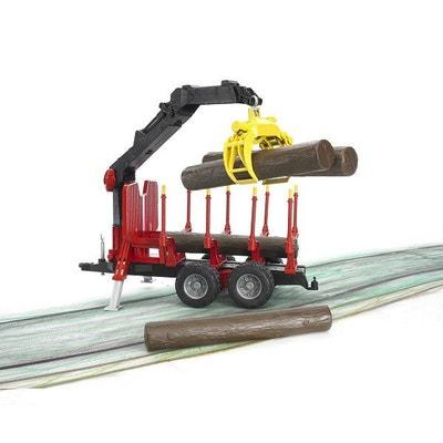 Remorque forestière avec chargeur et 4 troncs Remorque forestière avec  chargeur et 4 troncs BRUDER 6d130fb7efea