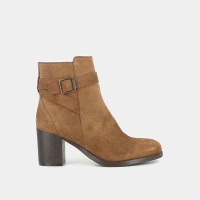 52c462b28ec Boots cuir à talon Takil Boots cuir à talon Takil JONAK