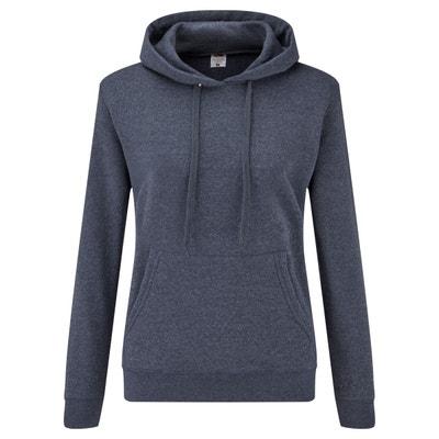 Sweat à capuche lenzo bleu + gris chiné Fila | La Redoute