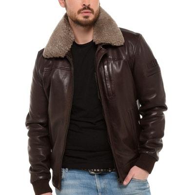 Blouson, veste en cuir homme   La Redoute 6deca34bc5c