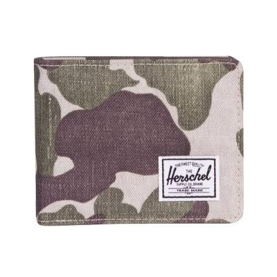 3543b883f4fb Portefeuille italien 2 volets Roy RFID à imprimé camouflage clair HERSCHEL