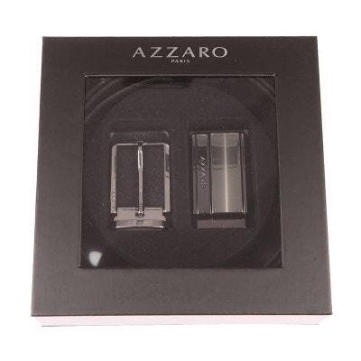 Coffret ceinture ajustable en refente de cuir de vachette réversible  Coffret ceinture ajustable en refente de. Soldes. AZZARO 234e0325ba3