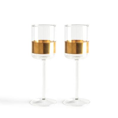 2 witte wijn glazen met koper Niels Datema Serax 2 witte wijn glazen met koper Niels Datema Serax AM.PM