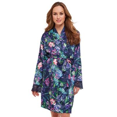 97dc17ce2135 Robe de chambre en satin avec motif floral et détail en dentelle Joe Browns  Femme Robe. JOE BROWNS