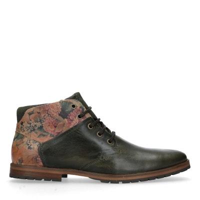 cbca1535785 Boots à lacets en cuir avec imprimé fleuri Boots à lacets en cuir avec  imprimé fleuri. SACHA