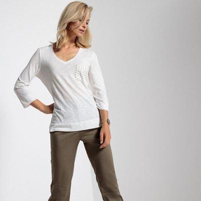dffb5c2e0792 Tee shirt coton manches 3 4 femme