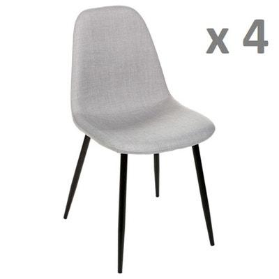 Lot de 4 - Chaise Nokas - Pied en métal ATMOSPHERA 2ac182a01d1a