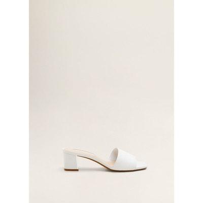 98cdb188633387 Sandales cuir talon Sandales cuir talon MANGO Sandales cuir talon Sandales  cuir talon MANGO. Chaussure blanche femme ...