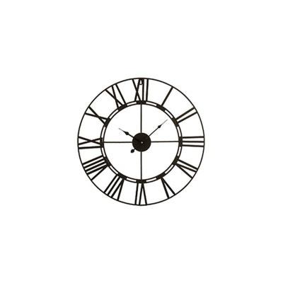 549f7354fbc53 Horloge Murale à l'ancienne en Fer Forgé Noir Horloge Murale à l'ancienne