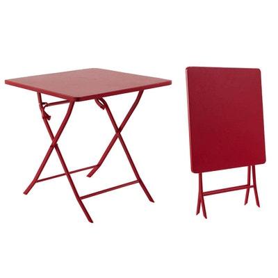 Table de jardin rouge   La Redoute