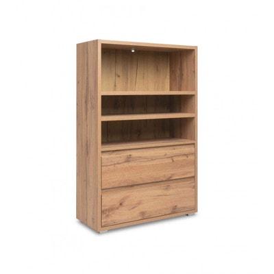 Bibliothèque en bois imitation chêne - BI7059 TERRE DE NUIT ed20c08c84c3