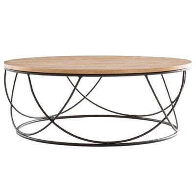 livraison gratuite ca03d 93b5c Table basse ronde bois clair | La Redoute