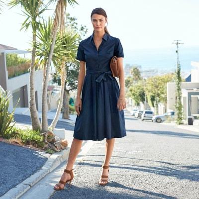 417f1c97ce Cotton Tie-Waist Shirt Dress LA REDOUTE COLLECTIONS