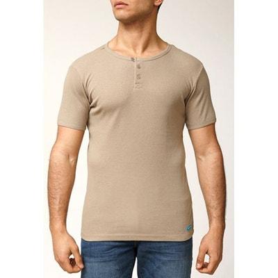 T-shirt maille cotelée coupe slim coton APOLLO RICA LEWIS a9db87fb0d9