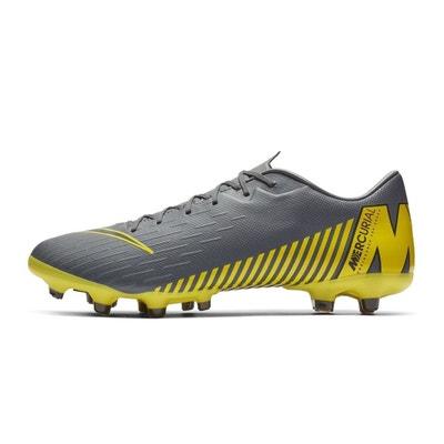 best service 2e55d b95c3 Chaussures football Nike Mercurial Vapor XII Academy MG GrisJaune Chaussures  football Nike Mercurial Vapor