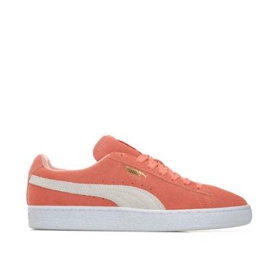 basket puma femme rose et grise