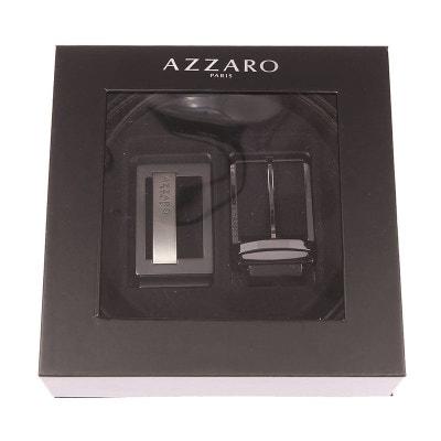 Coffret ceinture ajustable en refente de cuir de vachette réversible  Coffret ceinture ajustable en refente de. Soldes. AZZARO 112a0fc8237