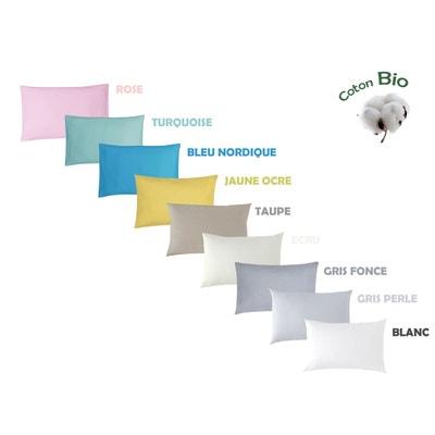 Coloris Taupe Coton Bio 118x180cm Drap de Lit Enfant
