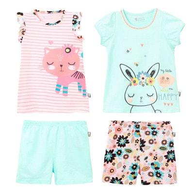 3d77c3b870dae Lot de 2 pyjamas fille Power Flower PETIT BEGUIN