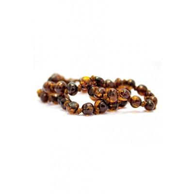 c8c21c890e4 Collier d ambre bébé petites perles rondes avec Fermoir de sécurité Collier  d ambre