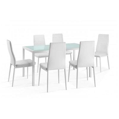 Ensemble Table Et 6 Chaises Blanches TOURISTE DECLIKDECO
