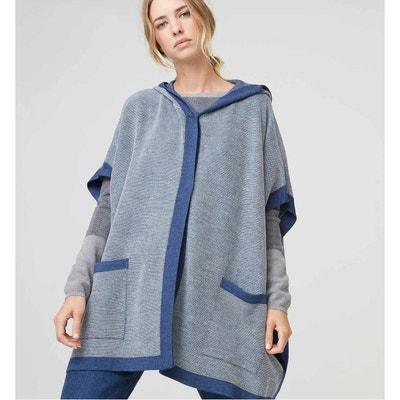 f214208ddbfe Cape à capuche bicolore laine RODIER