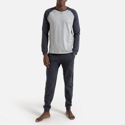 Bicolor pyjama met lange mouwen Bicolor pyjama met lange mouwen LA REDOUTE COLLECTIONS