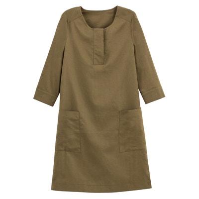 03f32750fd255c Rechte korte jurk met 3 4 mouwen LA REDOUTE COLLECTIONS