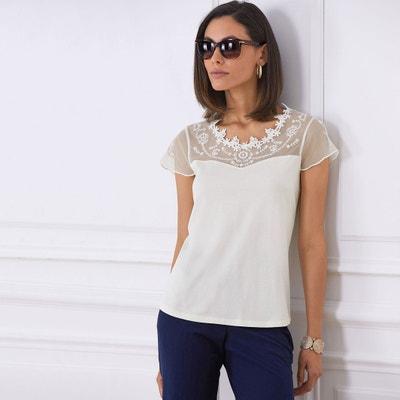Effen T-shirt met ronde hals en korte mouwen Effen T-shirt met ronde hals en korte mouwen ANNE WEYBURN