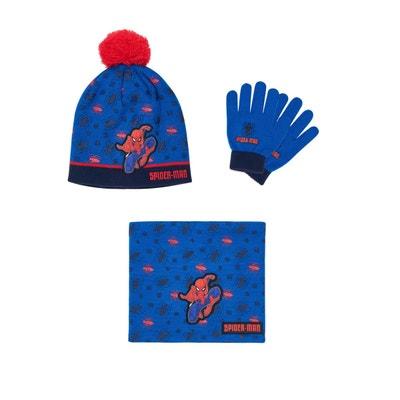 Ensemble 3 pièces   Un col tube, bonnet et gants SPIDER-MAN 0af98172379