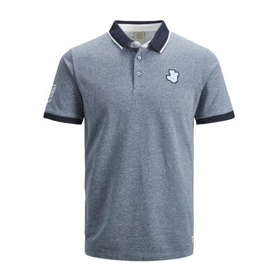 2424c8c18d6a13 Jorfrisk Logo Polo Shirt with Two-Tone Collar JACK   JONES