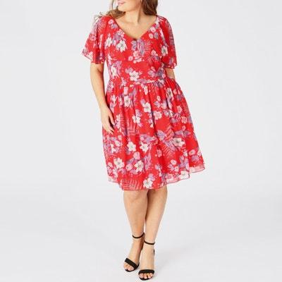 6bc8cd7cb3f Платье расклешенное с рисунком и глубоким вырезом сзади Платье расклешенное  с рисунком и глубоким вырезом сзади. Финальная цена. KOKO BY KOKO
