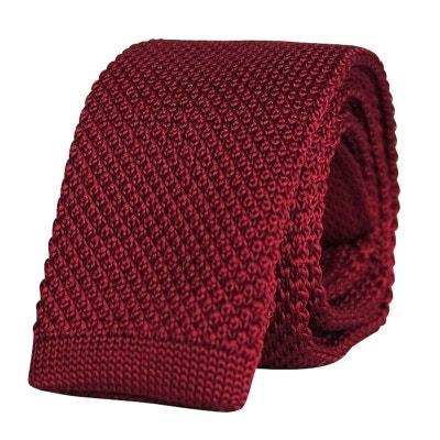 e8f88269cc909 Cravate tricot bordeaux Cravate tricot bordeaux CHAPEAU-TENDANCE